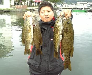 野尻湖釣行初日