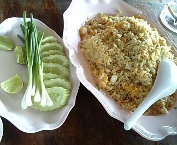 タイ釣行記 3日目昼食